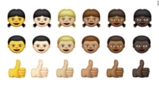 Emoji skin-tone modifiers