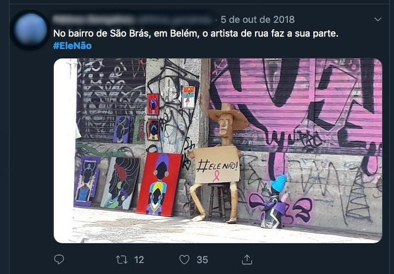 #EleNo becomes street art
