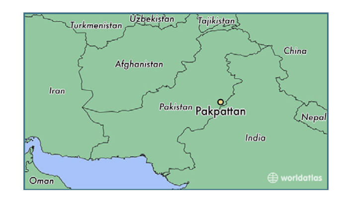 Map of Pakistan highlighting the case site