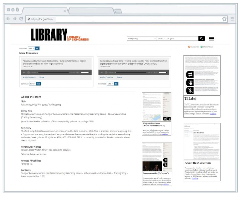 Wide screen view of my proposal for redesigning the user interface of the curated views