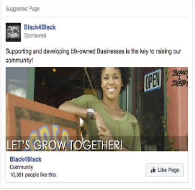 IRA ads targeting females from two Facebook pages