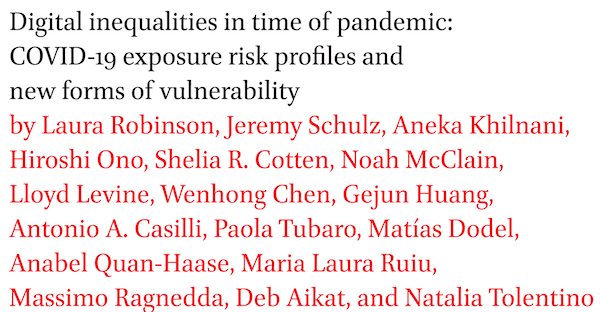 Ucsd Calendar 2022 23.Digital Inequalities In Time Of Pandemic Covid 19 Exposure Risk Profiles And New Forms Of Vulnerability