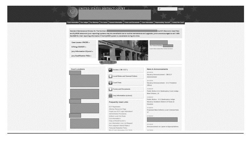 Web site with an accessibility issue Example 1