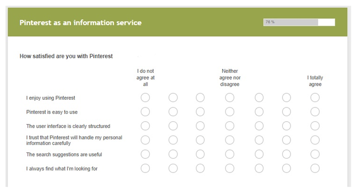 Excerpt from the survey