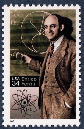 Enrico Fermi US stamp