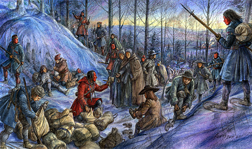Figure 2: March to Canada, illustration copyright Francis Back