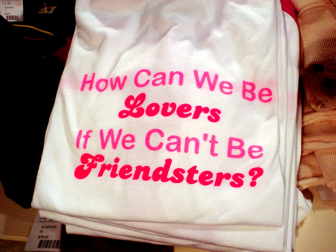 How can we be lovers if we can't be Friendsters?