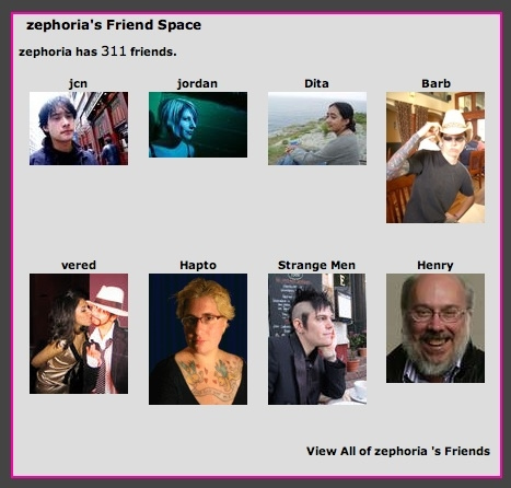 Zephoria's Friend Space