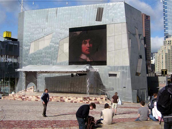 Figure 1: Big Screen, Federation Square, Melbourne. Photograph Meredith Martin