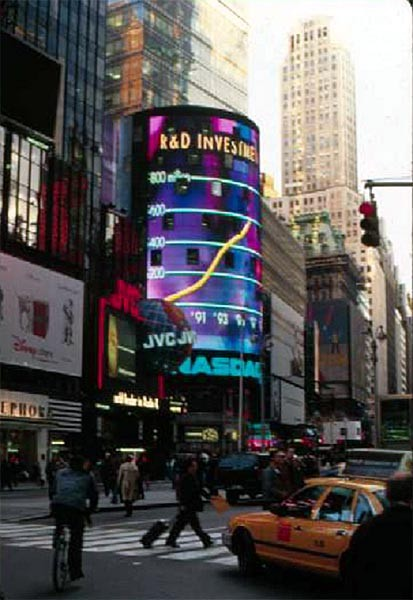 Figure 3: Nasdaq Building, Times Square, Fox and Fowle with its nearly 19 million LEDs