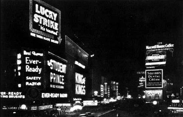 Figure 5: Times Square at night, New York, 1927