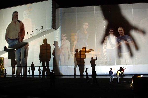 Figure 8: Rafael Lozano-Hemmer, 'Body Movies', 2001, Rotterdam