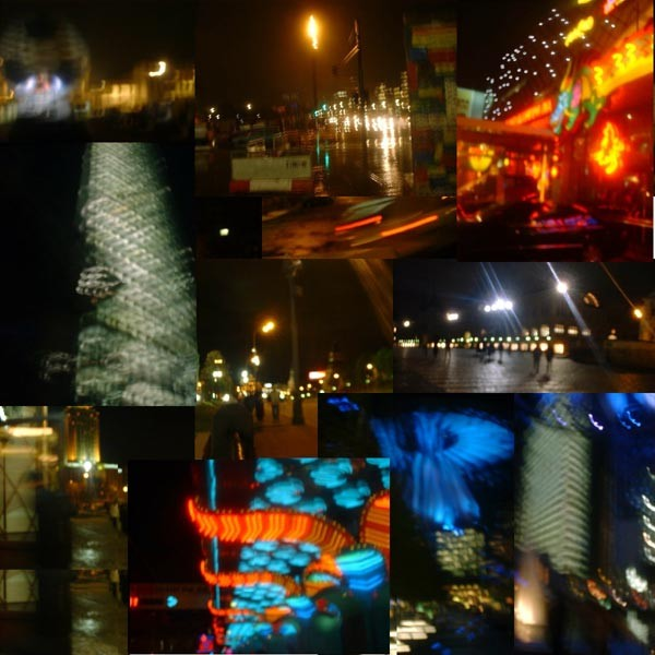 Figure 1: The city of pixels as a collective collage, a postmodern representation under space-time compression