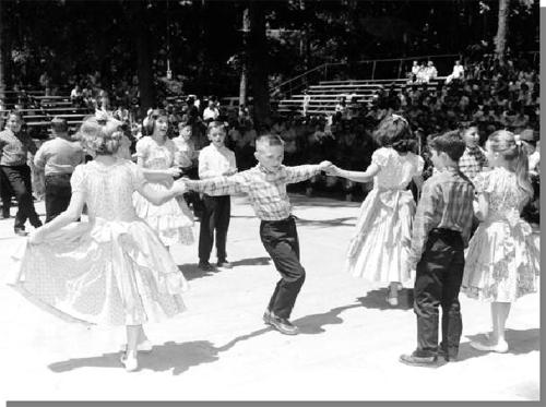 Figure 6: White Springs School fifth graders dancing, White Springs, Florida, 1959