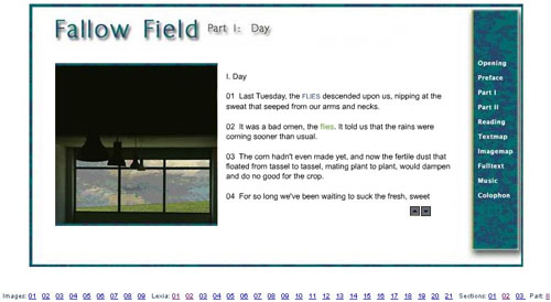 Figure 3: Screen shot from Fallow Field