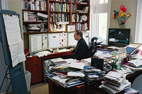 Figure 4: Al Gore sitting at his desk