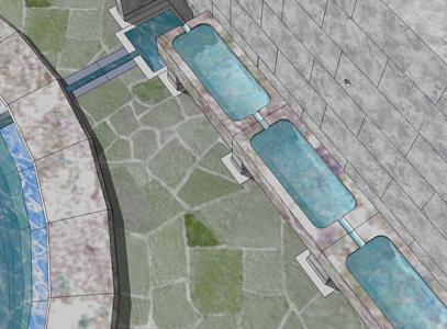 Figure 4: Detail of plunge bath