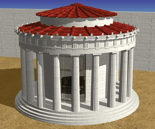 Figure 3: Alternative reconstruction of the temple of Athena Pronaia