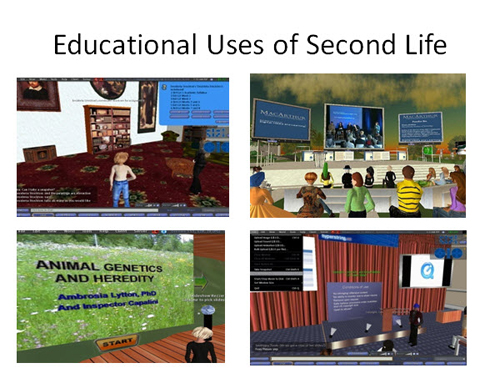 Figure 5: Educational uses of Second Life