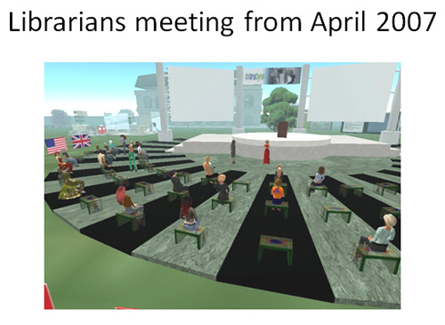 Figure 10: Librarians meeting April 2007