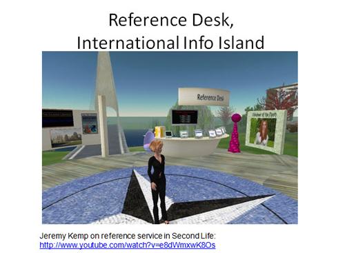 Figure 18: Reference desk, International Info Island