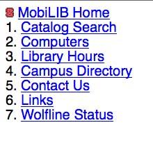 Figure 1: North Carolina State University, mobile site