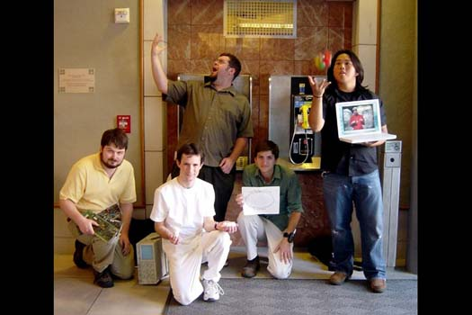 Figure 4: Players waiting to answer the payphone during I love bees