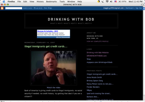 Figure 3: Drinking with Bob