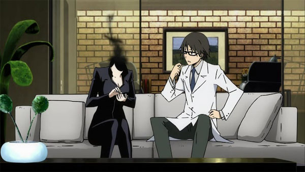 Celty and Shinra at home