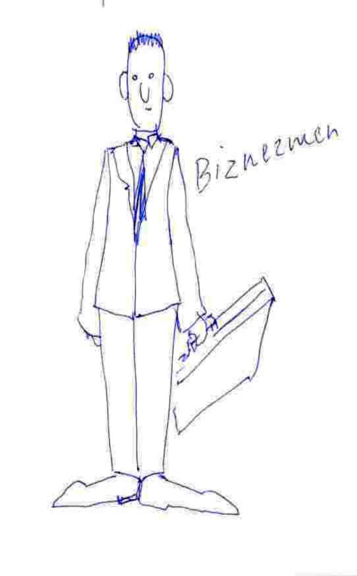 Figure 5: An example of a student sketch illustrating the Businessman user type