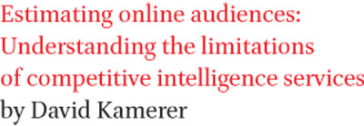 Estimating online audiences: Understanding the limitations of competitive intelligence services by David Kamerer