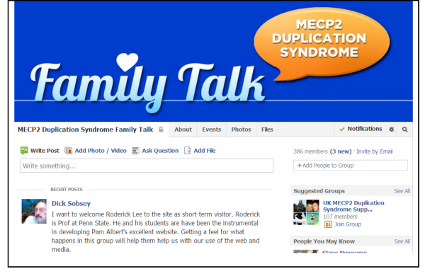 MECP2 Facebook