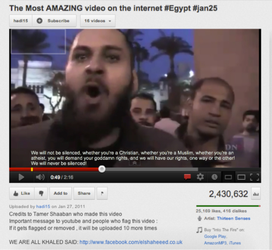Tamer Shaaban's remix video on the Egyptian Revolution