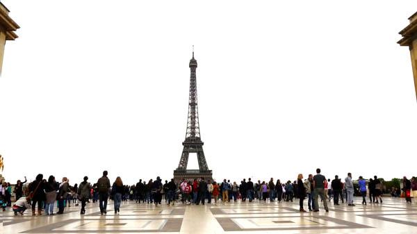 Eiffel Tower seen from the Palais du Trocadero