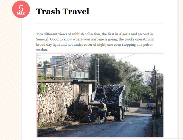 Trash travel photo and text