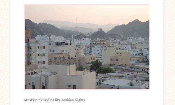 Musky pink skyline like Arabian Nights