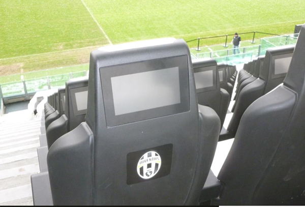 Premium seats, with integrated LCD screens