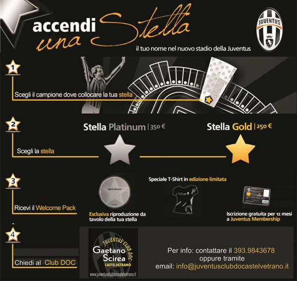 The Light Up a Star campaign on the Juventus Web site