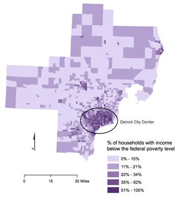 Detroit, Poverty rates