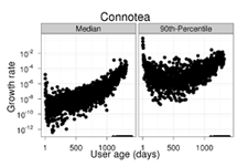 vocabulary growth pattern in Connotea