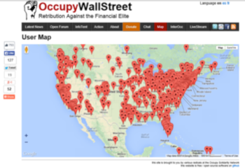 Occupy map of local actions and collectives