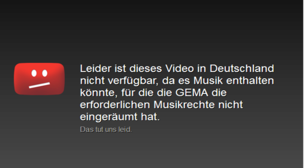 Unfortunately, this video is not available in Germany ...