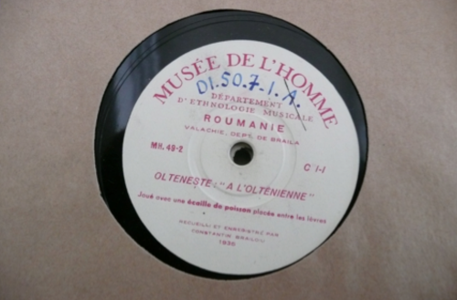 78 rpm recording of Romanian music