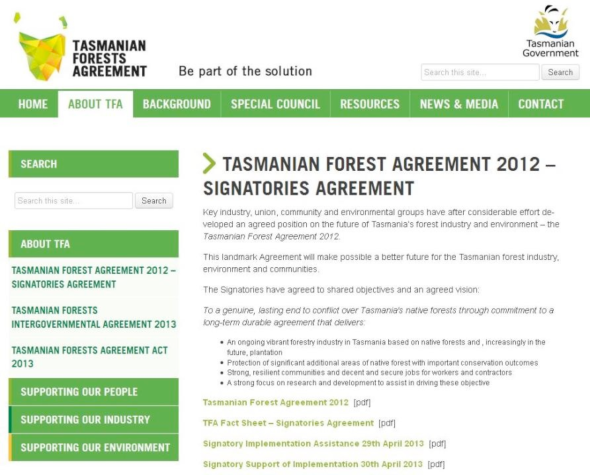 The Tasmanian Forests Agreement