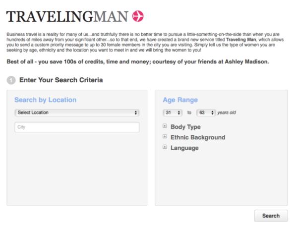Travellingman functionality