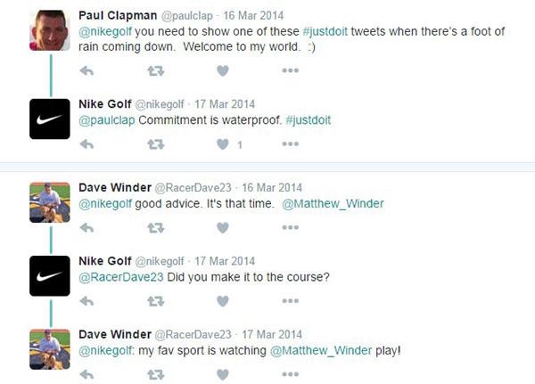 Sample Twitter conversation