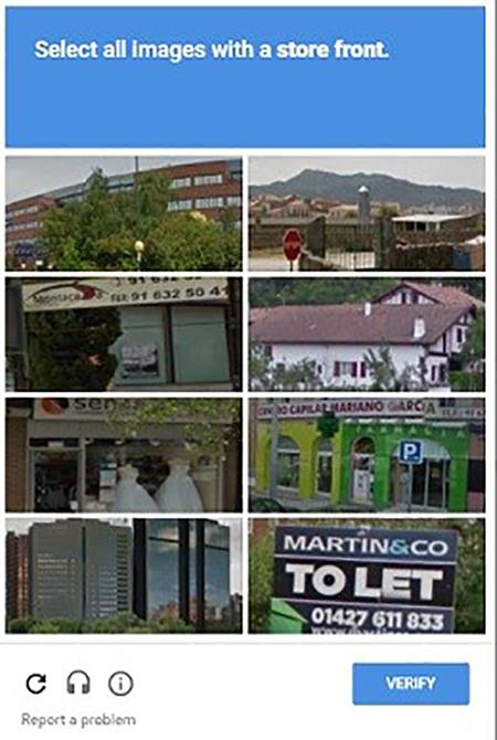 Sample screenshot of a CAPTCHA