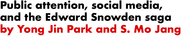 Public attention, social media, and the Edward Snowden saga by Yong Jin Park and S. Mo Jang