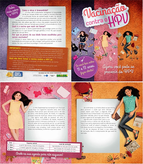 HPV vaccination campaign external folder