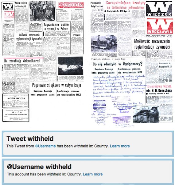 Example of news censorship in Poland